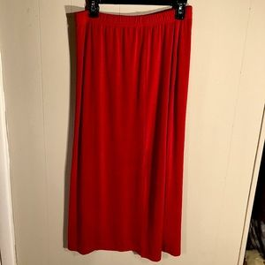 Skirt red silky and stretchy